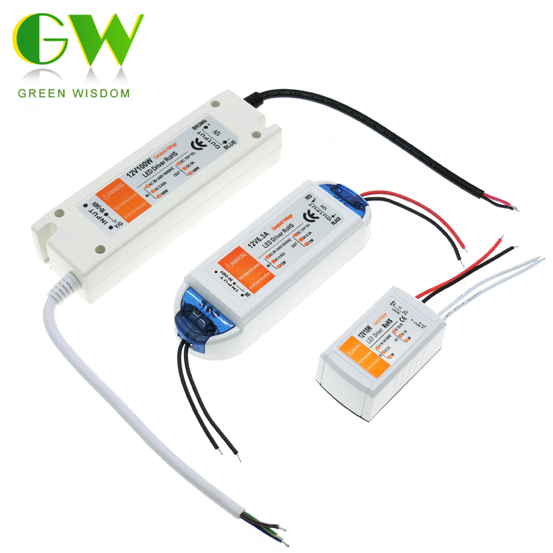 DC 12V 18W 72W 100W Lighting Transformers High Quality LED Driver for LED Strip Power Supply.