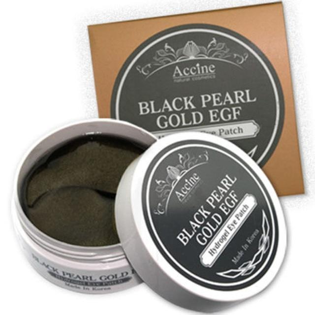 Petitfee perla negro oro hidrogel parche en el ojo 60 unids Gel cuidado de la piel máscara diluir el ojo negro líneas finas máscara reposición