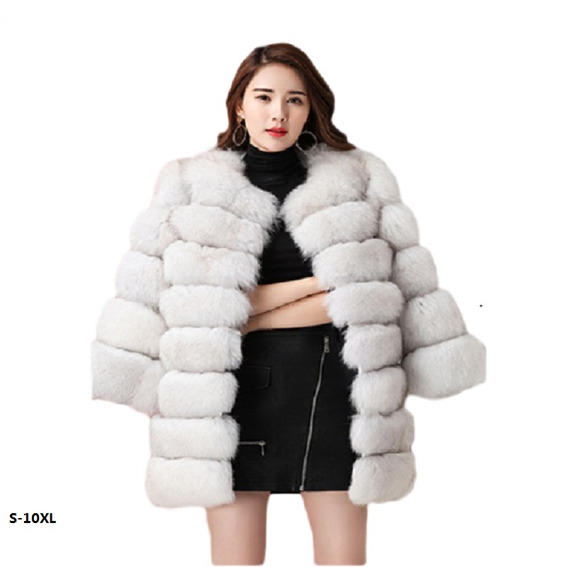 Long mink fur coat sale 2018 new fashion women winter fur imitation fox fur high quality coat artificial fur coat woman S-10XL cx c 128c hot sale fashion women mink fur wholesale woman mink fur women hat drop shipping