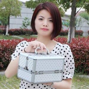 Image 5 - Mới Làm Nên Hộp Bảo Quản Dễ Thương Đựng Mỹ Phẩm Trang Điểm Tổ Chức Hộp Đựng Trang Sức Nữ Người Tổ Chức Du Lịch Hộp Bảo Quản Túi Vali Kéo
