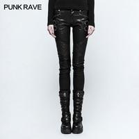 Панк Rave Новый Для женщин плотно сексуальный стимпанк рок сетки шить Штаны из искусственной кожи K297F