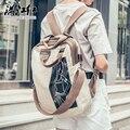 Esquilo moda de linho do vintage multi-purpose cross-corpo mochilas unissex vogue clássico de viagem mochilas casual juventude menino saco