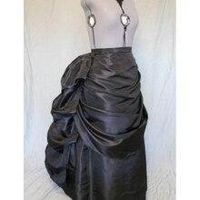 Черная викторианская юбка с турнюром/викторианские юбки