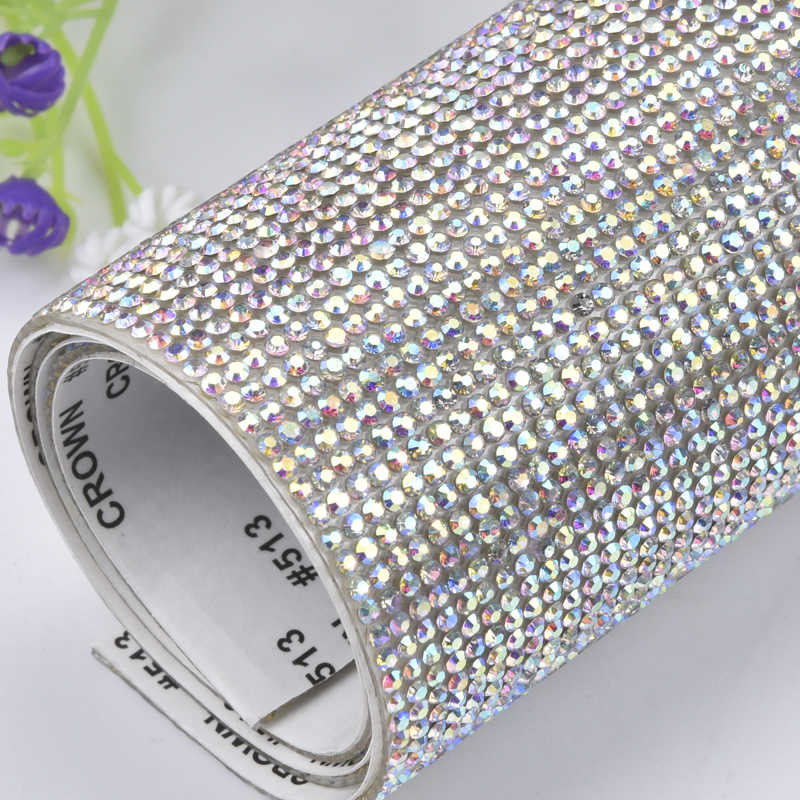 ... factory 24 40cm 2mm SS6crystal Beads Trims Rhinestone Iron On Transfer  Design Mesh Strass Crystal ... b21e5bf2d2d6