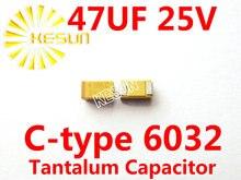 47 МКФ 25 В C тип 2312 6032 476E SMD Тантал Конденсатор Разъем TAJC476K025RNJ x100PCS Бесплатная Доставка
