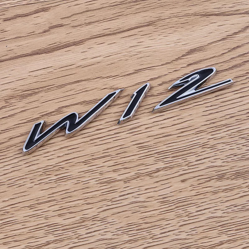 Car Styling Accessories for Bentley Car body W12 Fender Modified sticker Emblem tail badge Metal Standard decoration stickers