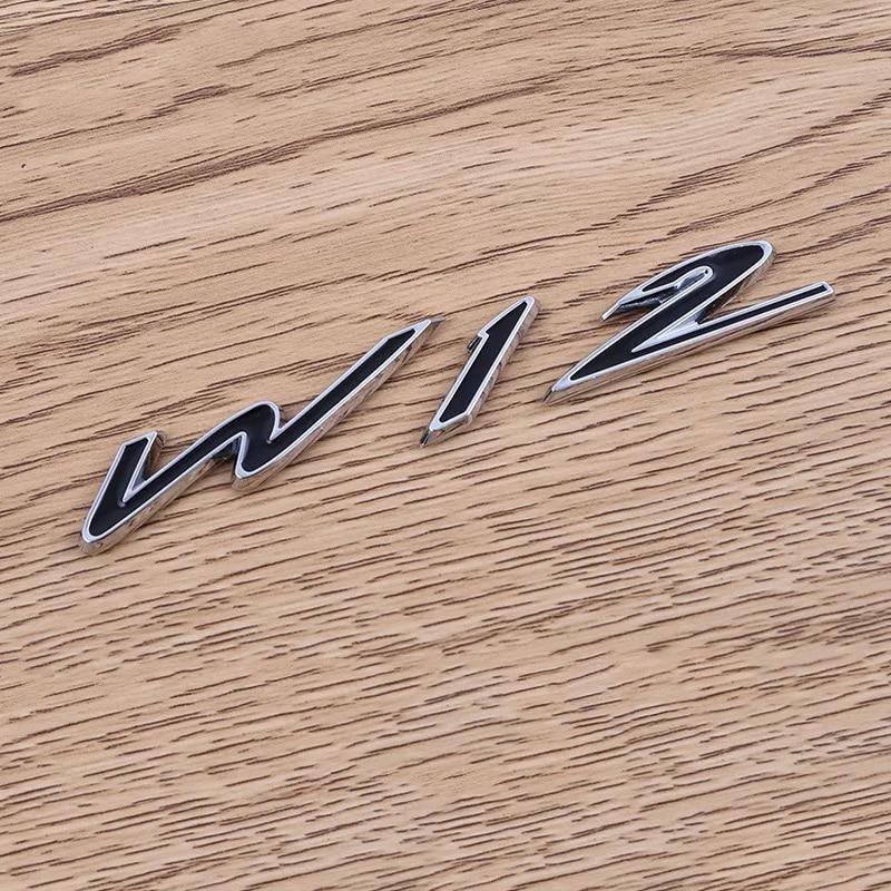 Corpo Do Carro Styling Acessórios do carro para Bentley W12 Fender Modificado adesivo Emblema emblema da cauda de Metal Padrão autocolantes decoração