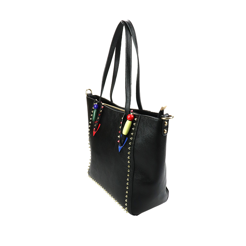 YOUMEIYOUPIN Brand Women Bag Rivet Leather Bucket Handbag Lady Shoulder Bags Beading Patchwork Zipper Office Daily PU Bags цена