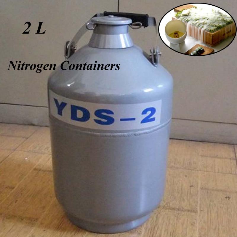 2L YDS-2 Aluminum Alloy Liquid Nitrogen Containers Liquid Nitrogen Container Dewar Nitrogen Liquid u s solid 3 l liquid nitrogen container cryogenic ln2 tank dewar with straps 6 canisters 25 days