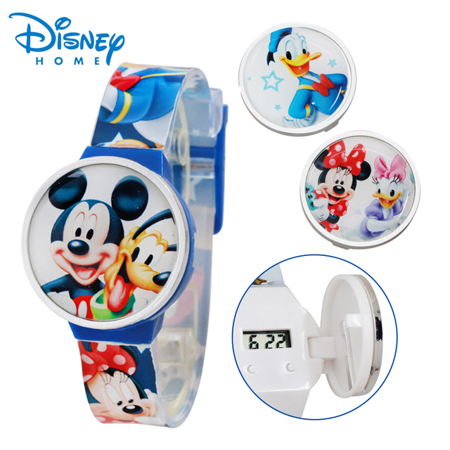 Disney Digital Watch Mickey Mouse Fashion Children Watches For Boys Girls Silico