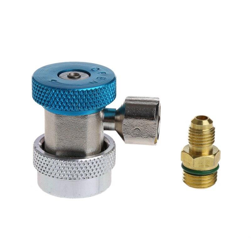 Купить с кэшбэком 2Pcs Car Auto Freon R134A H/L Quick Coupler Adapters Air Conditioning Refrigerant Adjustable A/C manifold gauge set QC-ML new