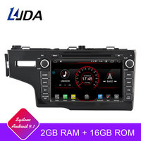 LJDA 1Din Android 9.1 Car Radio For Honda JAZZ FIT 2014 2015 WIFI Car Multimedia Player Stereo GPS Navigation DVD IPS Auto Audio