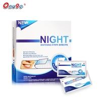Onuge 1 Caixa / 20 Bolsas Blanqueamento de dentes Tiras secas da noite Tiras de branqueamento avançadas Dormir Usar a Tira seca da noite dentária