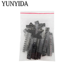 Free Shipping 35 values 350 pcs per lot SMD SMT Transistor and Diode NPN PNP Assortment Kit цена