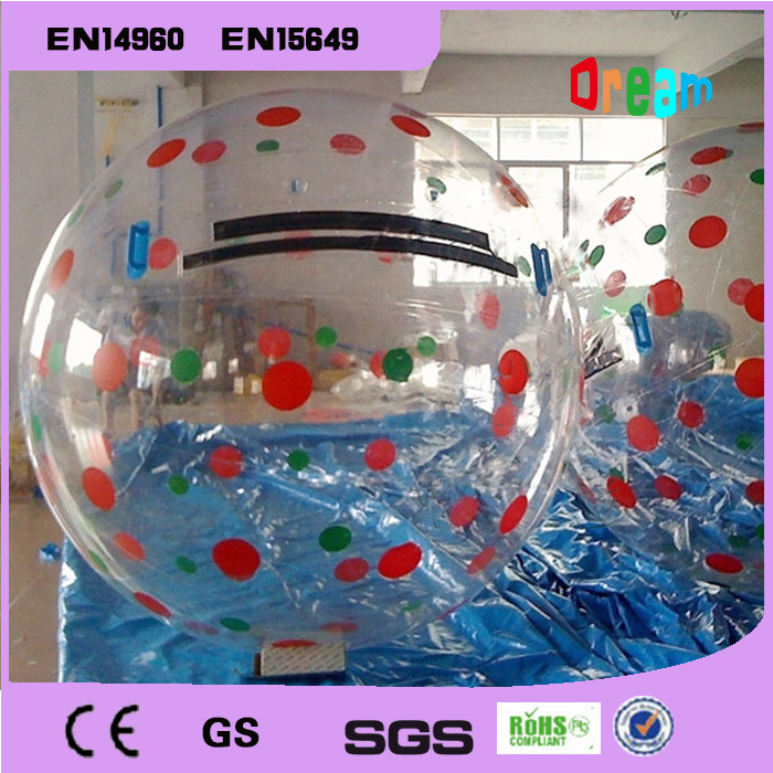Free Shipping 0 8mm TPU 2m Inflatable Water Walking Ball Human Hamster Ball Zorb Ball Plastic