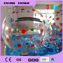 Free Shipping!0.8mm TPU 2m Inflatable Water Walking Ball/Human Hamster Ball/Zorb Ball/Plastic Ball/Water Balloon
