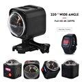 4 K Full-View 360 Action Camera Wifi Mini Câmera de Esportes de 360 Graus Panorama 4K @ 24fps Ultra HD VR Câmera com Controle Remoto