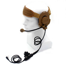 HD01 Z Tactical Bowman Elite II Headset with U94 Style PTT for Kenwood BaoFeng UV-5R GT-3TP UV-82 BF-F8HP BF-F9 V2+ UV-5RE Plus