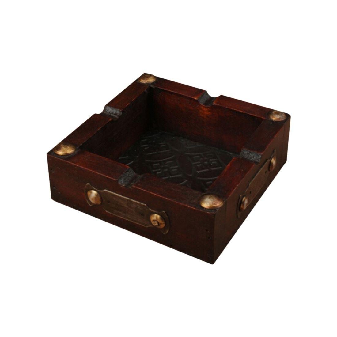 Practical Boutique Vintage Wood Ashtray Cigarette Cigar Handmade Tobacco Wooden Case Cigarette Rests For Smoking Convenience B