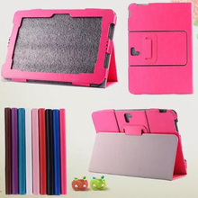 Luxury Folio Stand Crazy Horse Pattern Leather Case Smart Protective Cover For Asus