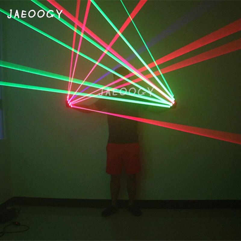 Высококачественные цветные лазерные перчатки Хэллоуин бар, ночной клуб шоу на сцене светящиеся очки перчатки реквизит вечерние танцевальн...