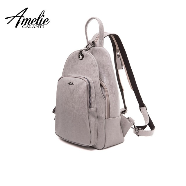AMELIE GALANTI Women Backpack Solid Soft PU Leather Fashion Solid Female Backpack Designed for Women School Backpacks