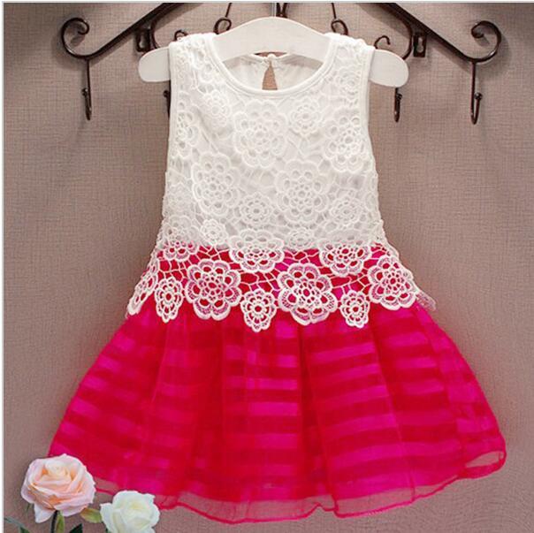 83b28cae55542 Filles Robes De Mode Casual D été Dentelle crochet Tutu Robe Enfants Party  Girl Vêtements pour 2-6Y Enfants