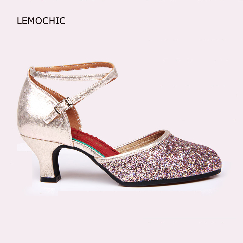 LEMOCHIC womens adult soft sole latin double steps cha-cha tango pole ballroom dancing good quality comfortable classical shoes