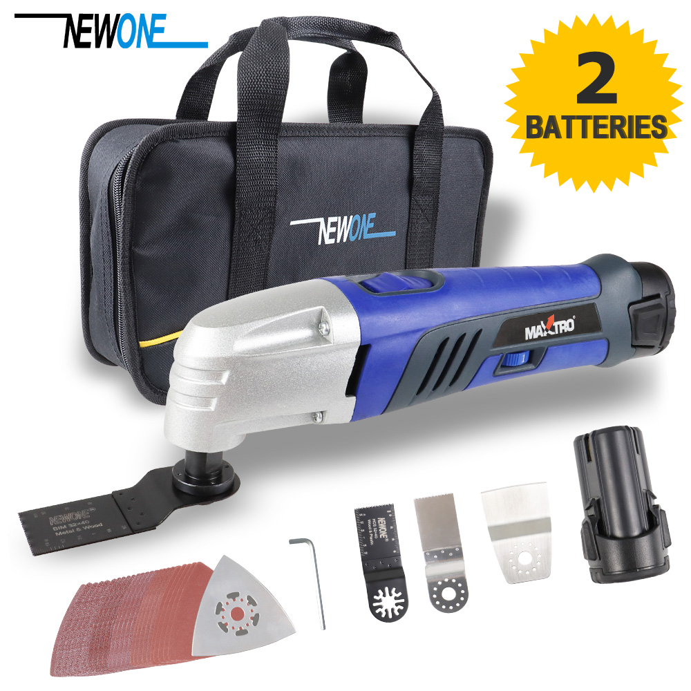 10 8V 1 30A Li ion Oscillating Multi Tool with 2 battery Cordless Power Tools for