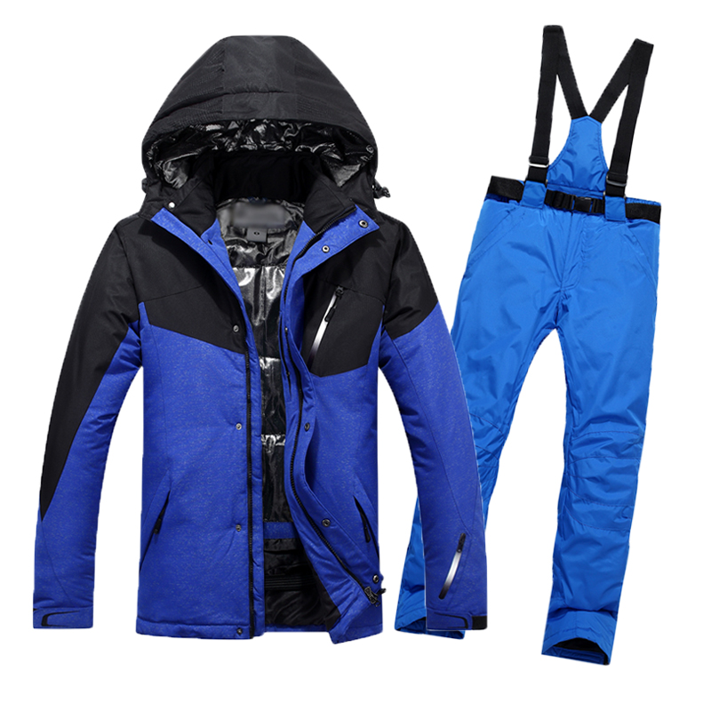 цена Ski Suit Men 2018 New Waterproof Thermal Snowboard Jacket + Pants Male Mountain skiing and snowboarding Winter Snow Clothes Set