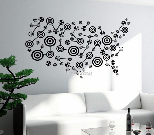 newest design usa map wall decal art america atlas travel vinyl stickers for living room wall