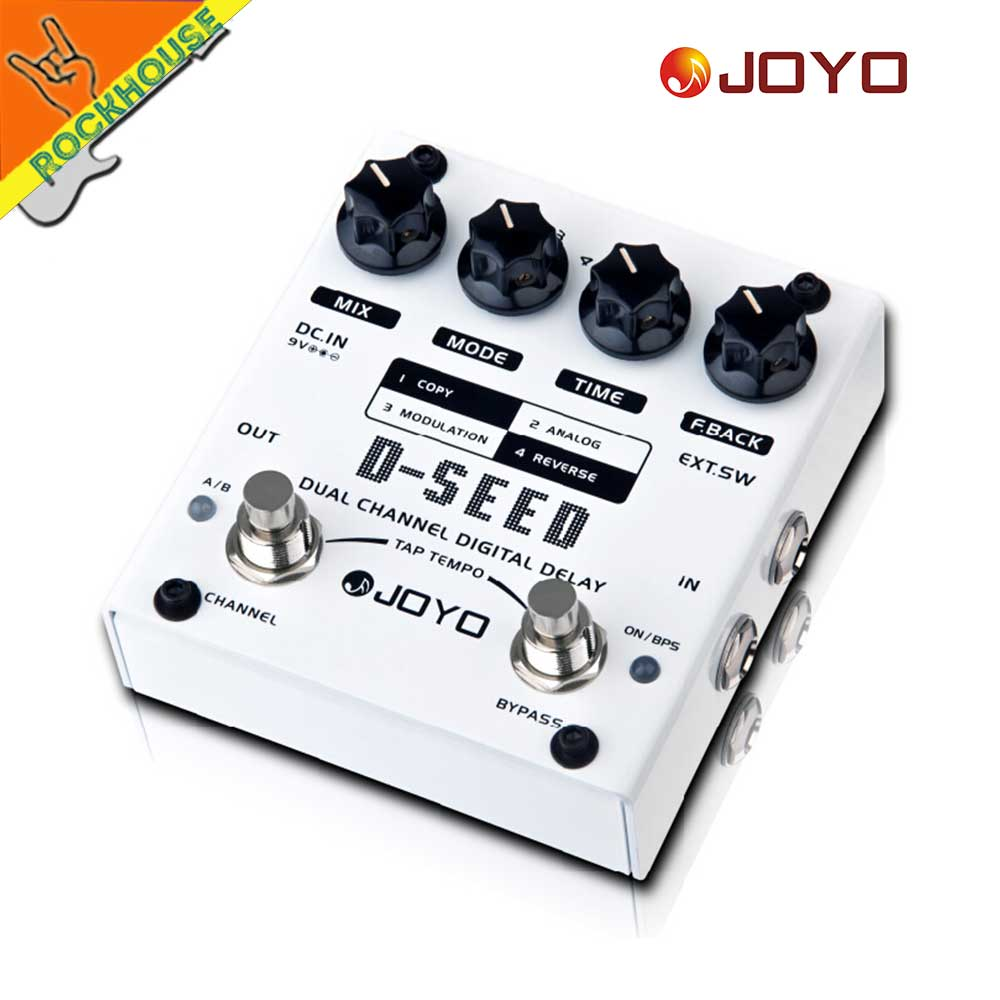 JOYO D-SEED Dual Channel Digital Delay Guitar Effects Pedal Analog Delay Effects Guitarra Stompbox True Bypass Free Shipping new pegasus overdrive pedal guitar effects pedal high power drive booster tube overload stompbox true bypass free shipping