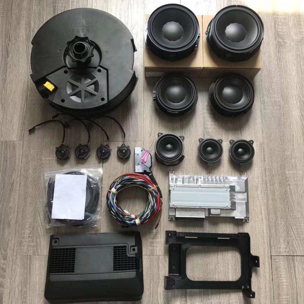 Pour Passat B8L Haut-parleurs Dynaudio (4 Tweeter/4 Woofer/2 Alto/1 Center/1 caisson de basses/1 Amplificateur) avec Câble