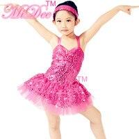 Chaude Paillettes Ballet Tutus Ballerine Tutu Fantaisie Robe Pour Ballet Cygne Lac Rose Robe
