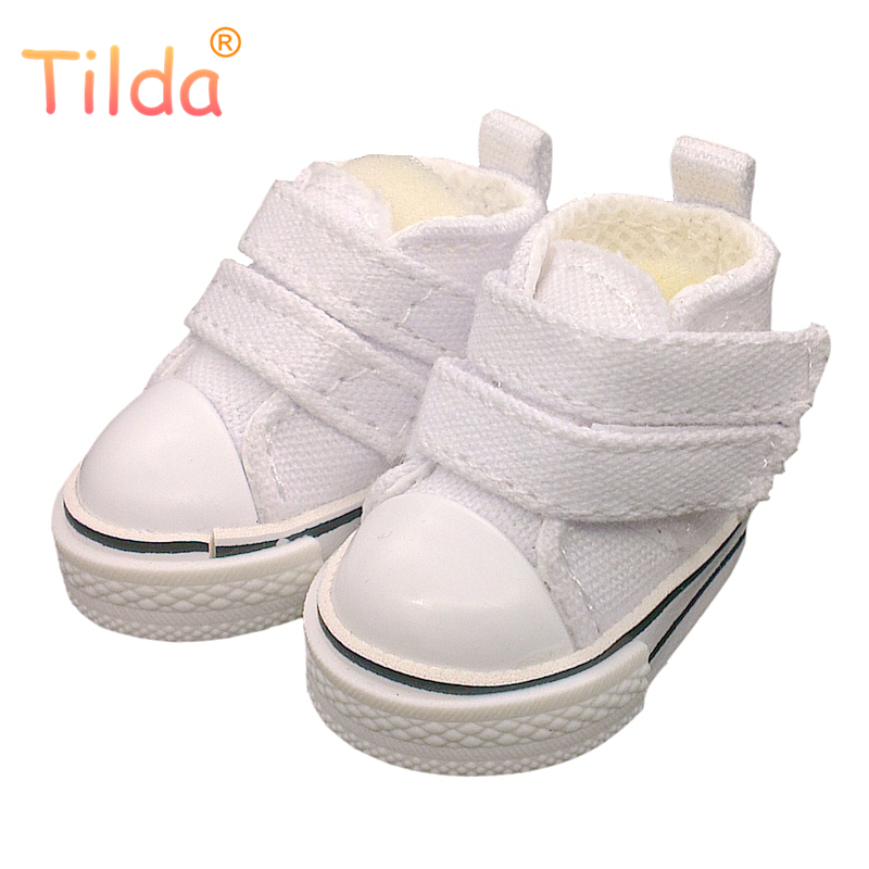 Tilda 5cm Canvas Shoes For Cloth Dolls Textile Rag Doll 1/6 BJD Denim Sneakers Shoes For RagDoll Toy Accessories 5pairs/lot