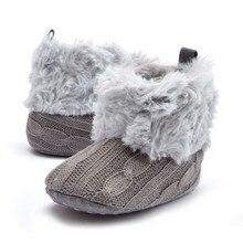 Super Warm Prewalker Boots Toddler Girl Boy Crochet Knit Fleece Booties Wool Winter Snow Crib Shoes 0-18M