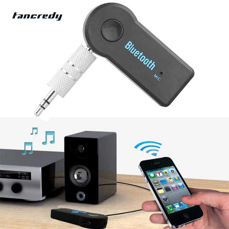 Tancredy Home Car Wireless Bluetooth AUX Audio Receiver Adapter 3.5mm Jack Aux Bluetooth