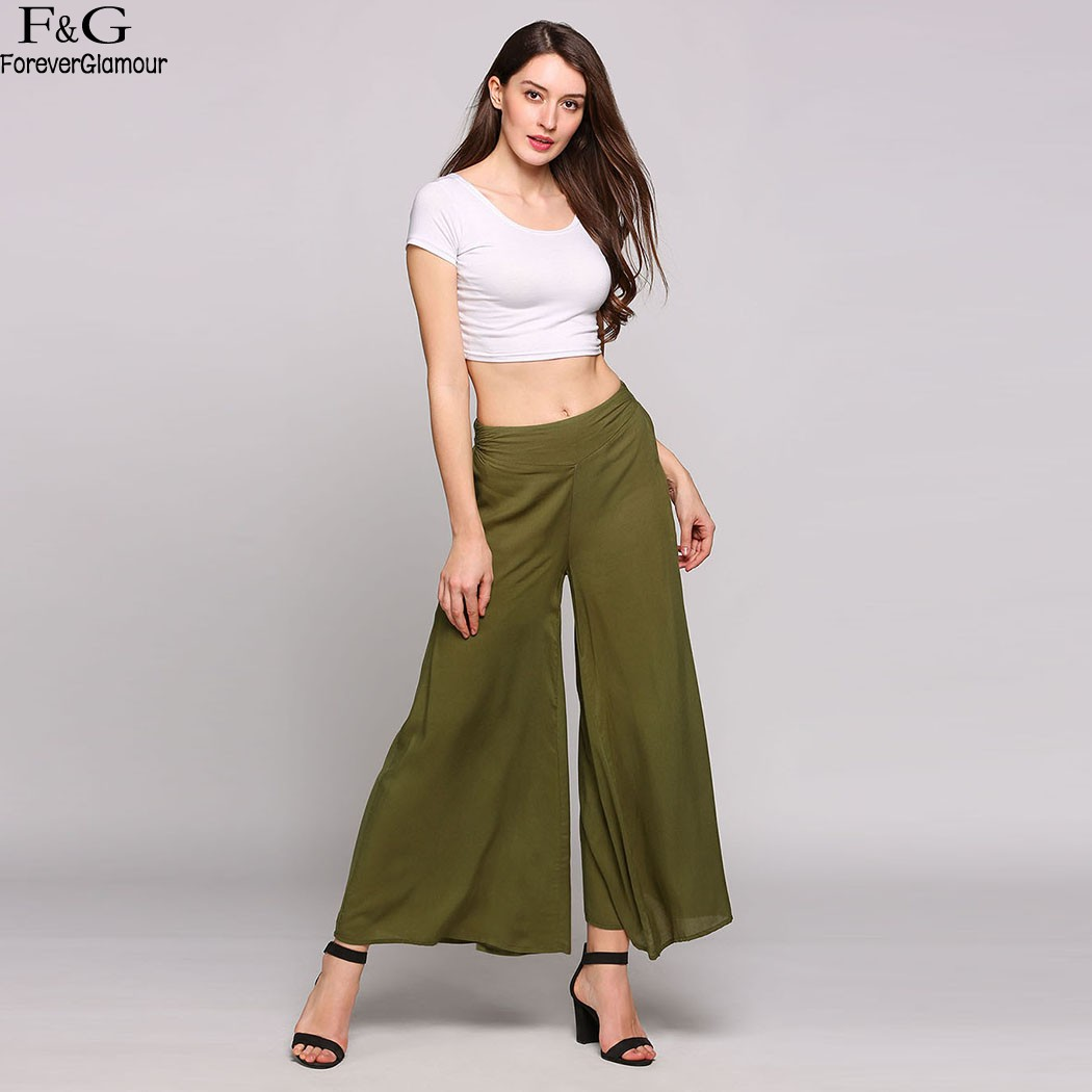FANALA Summer Pants Women 2017 Fashion Wide Leg Pants ...