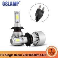 Auxbeam H7 LED Car Headlight COB Chips H7 Single Beam 72W 8000lm Car LED Headlight Bulbs