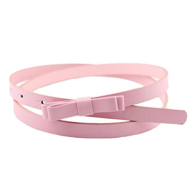 desire #50 New Fashion Dow Candy Thin Women Pu Leather Casual Belt Cummerbund For Girl 5