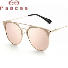 Psacss NEW Vintage Metal Cat Eye Sunglasses Women Brand Designer Retro Sun Glasses Female Fashion Mirror Lunette De Soleil Femme