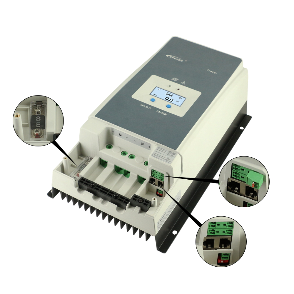 Image 5 - EPever MPPT 100A 12V 24V 36V 48V Solar Charge Controller Backlight LCD Max 150V PV Input Common Negative Grounding Tracer10415ANSolar Controllers   -