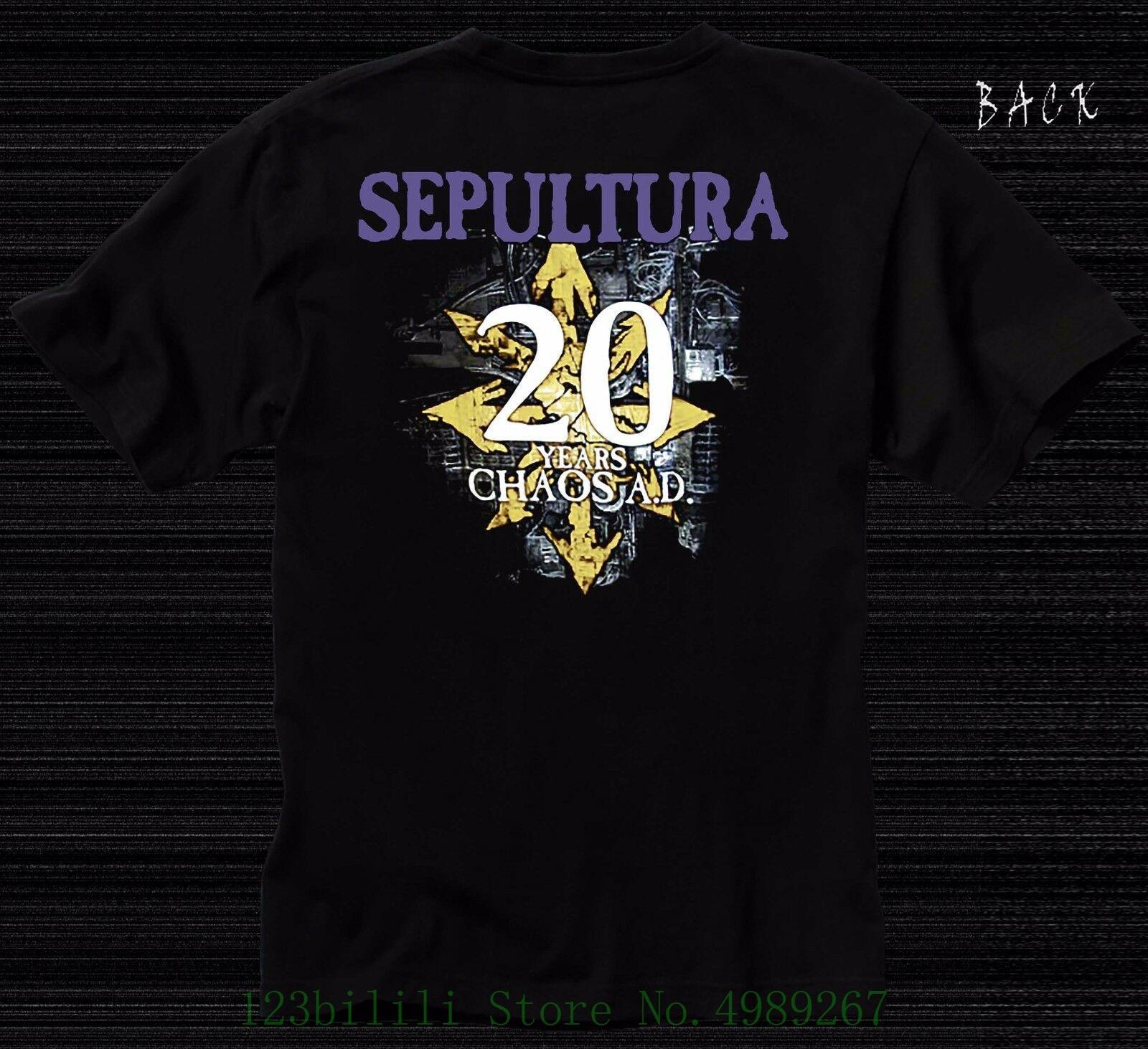 Sepultura Brazilian Heavy Metal Band New T-Shirt Cotton 100/%