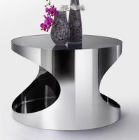 Priced stainless steel coffee table glass coffee table living room furniture corner a few phone a few Specials