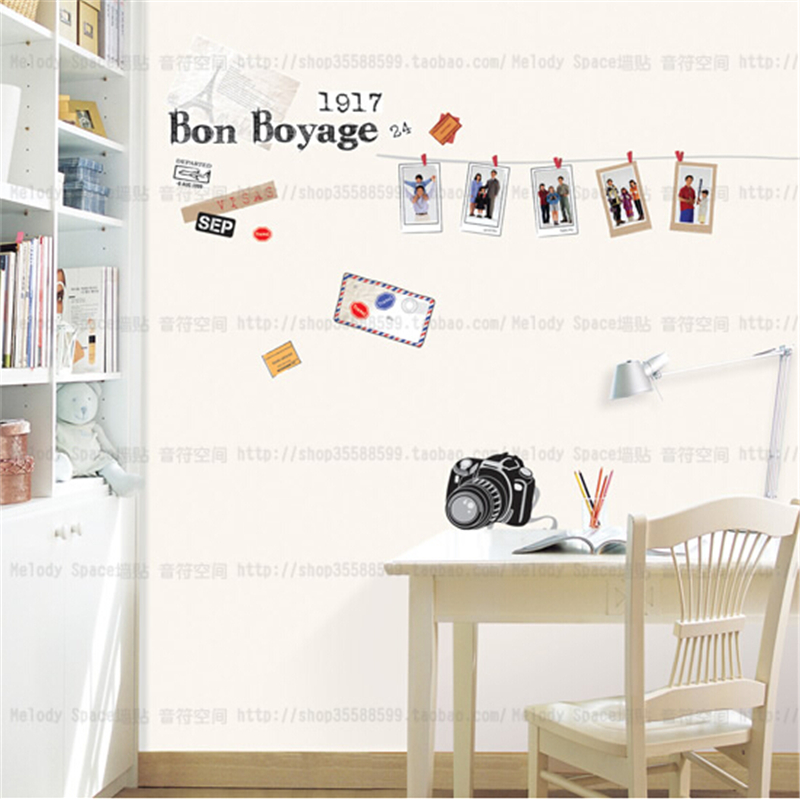 Time Travel Diy Removable Vinyl Wall Stickers For Kids Rooms Home Decor Decal Poster Mural Papers