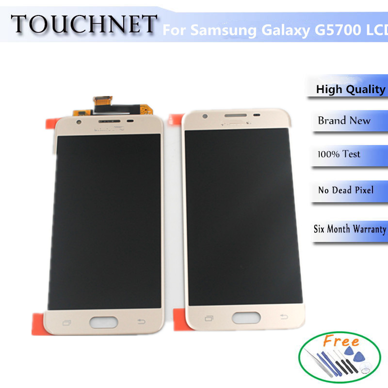 5 inch Quality AAA LCD Display For Samsung Galaxy G5700/ON 5/G5510/G5520/J5 prime Smartphone