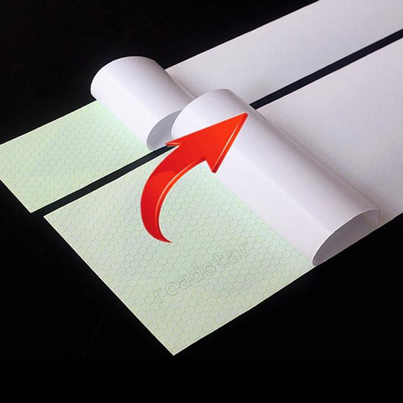 Купить с кэшбэком 25mm x 25m  yellow/red/white Reflective tape stickers car-styling Self Adhesive Warning Tape