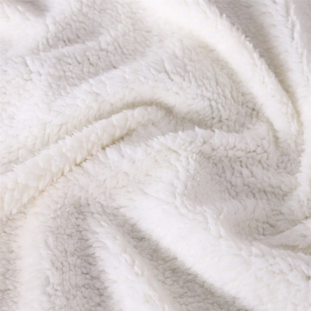 Three Wolf Moon 3D Printed Plush Hooded Blanket 4
