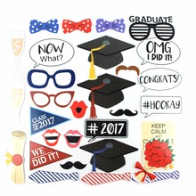 2017 Funny Party Decoration Photo Props For Graduation photography props Cardstock photobooth  Crazy Supplier