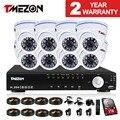 Tmezon 8CH 1200TVL CCTV Home Security Surveillance System 8pcs IR Night Vision Dome Outdoor Waterproof Camera 1TB 2TB HD Kit